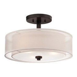 Minka Lavery - Minka Lavery 4107-172 3 Light Semi-Flush Ceiling Fixture from the Parsons Studio - Three Light Semi-Flush Ceiling Fixture from the Parsons Studio CollectionFeatures: