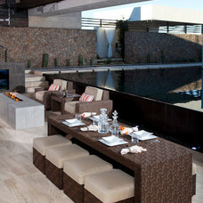 Contemporary Outdoor Tables by Somers Furniture