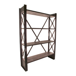 Industrial Loft Reclaimed Wood Bookcase