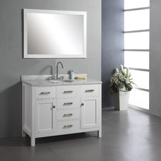 "Modern Bathroom Vanities And Sink Consoles Virtu USA MS-2048 Caroline Collection 48"" Single Bathroom Vanity"