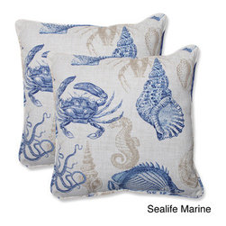 Pillow Perfect 'Sealife' 18.5-inch Outdoor Throw Pillow (Set of 2) -