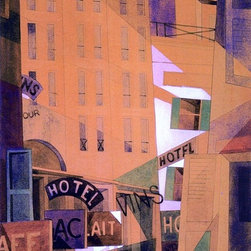 "Charles Demuth Hotel - 18"" x 24"" Premium Archival Print - 18"" x 24"" Charles Demuth Hotel premium archival print reproduced to meet museum quality standards. Our museum quality archival prints are produced using high-precision print technology for a more accurate reproduction printed on high quality, heavyweight matte presentation paper with fade-resistant, archival inks. Our progressive business model allows us to offer works of art to you at the best wholesale pricing, significantly less than art gallery prices, affordable to all. This line of artwork is produced with extra white border space (if you choose to have it framed, for your framer to work with to frame properly or utilize a larger mat and/or frame).  We present a comprehensive collection of exceptional art reproductions byCharles Demuth."