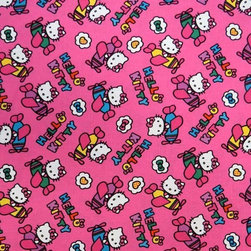 """SheetWorld - SheetWorld Fitted Crib / Toddler Sheet - Hello Kitty Airplanes - Made in USA - This 100% cotton """"woven"""" crib / toddler sheet features the one and only Hello Kitty! Our sheets are made of the highest quality fabric that's measured at a 280 tc. That means these sheets are soft and durable. Sheets are made with deep pockets and are elasticized around the entire edge which prevents it from slipping off the mattress, thereby keeping your baby safe. These sheets are so durable that they will last all through your baby's growing years. We're called SheetWorld because we produce the highest grade sheets on the market. Size: 28 x 52."""