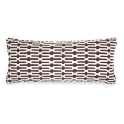 Pine Cone Hill - links tobacco pillow (15x35) - Exciting horizontal stripes make this pillow a fun and modern accent. Includes zipper cosure and feather insert.��This item comes in��tobacco.��This item size is��35w 15h.