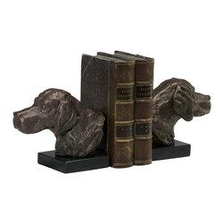 Cyan Design - Cyan Design Hound Dog Bookends in Bronze (Set of 2) - Hound Dog Bookends in Bronze (Set of 2)