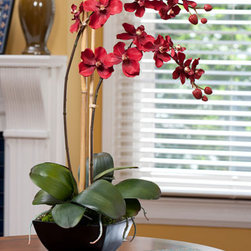Vanda Orchid - I love receiving plants more than arrangements because they last beyond the holidays. But how about this silk orchid arrangement? It looks so real, you might water it by accident!