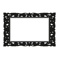 RoomMates - Ornate Frame Dry Erase Peel and Stick Wall Decals - Decorate any space with this decorative and ornate frame dry erase wall decal. This design will allow you to keep track of those important tasks in style! Application is easy: simply peel the decal from the backing and apply to any smooth surface, from walls to doors to closet doors. Need a change? No problem--just peel it off and start over.