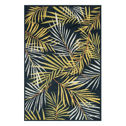 """Loloi Rugs - Loloi Rugs Catalina Collection - Navy / Multi, 9'-2"""" x 12'-1"""" - Made of very weather-resilient polypropylene, the Catalina Collection features indoor/outdoor rugs with bold patterns and can't-miss, vibrant colors that look amazing in indoor or outdoor spaces. Each design is power loomed in Egypt and tested withstand UV rays and sunshine."""