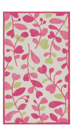 "Loloi Rugs - Loloi Rugs Zoey Collection - Pink / Green, 5'-0"" x 7'-0"" - Zoey is a delightful collection of lighthearted, cheerful patterns in pinks, blues and greens that are perfect for young kids or the young at heart. Power loomed in China of super soft polyester microfiber, Zoey rugs are durable, yet soft enough for infants and toddlers to cozy up to.�"