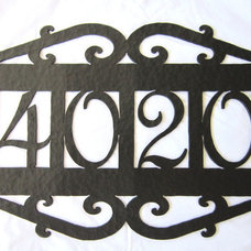Mediterranean House Numbers by Bushere & Son Iron Studio Inc.