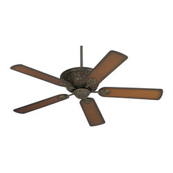 "Casa Vieja - Traditional 52"" Casa Contessa™ Bronze Teak Finish Ceiling Fan - Feel the cooling breeze from this handsome Casa Contessa™ ceiling fan. Features a bronze and copper finish 172 x 20 motor (with a lifetime motor warranty) and shaded teak blades. Has a 13 degree blade pitch and a 52"" blade span. The ceiling fan is dual mountable and may be adapted for low profile use.  Bronze and copper finish motor.  Shaded teak finish blades.  By Casa Vieja ceiling fans.  52"" blade span.   13 degree blade pitch.  Fan motor only 10.5"" high (without downrod).  Low profile adaptable."