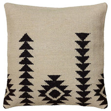 One Kings Lane - The Cozy Cabin - Southwest 18x18 Wool-Blend Pillow, Ivory