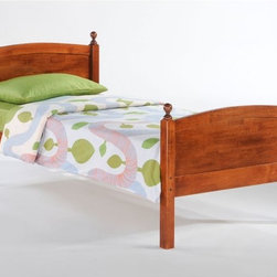 Night and Day - Night and Day Licorice Panel Bed - ND369 - Shop for Daybeds from Hayneedle.com! Just like its namesake the Night and Day Licorice Panel Bed may come in some different flavors but the end result is hard for any kid to turn down. Loaded with options this simple panel has an elegant style that's formed from solid hardwood not a collection of laminated fiberboard and faux finishes. By itself this contemporary panel bed is available in full or twin sizes and in a range of classic finishes. From there take the time to explore what you could get if you add the trundle storage or trundle bed options. There's plenty of room beneath this bed so could you find a use for a pair of deep drawers that roll smoothly out from underneath? I bet you've have more than one unplanned slumber party so maybe adding the convenient trundle bed would be the option that provides the most value (and relief) for your family. Whatever you choose this appealing high-quality set is going to help give you the home you want.Twin Bed Dimensions: 57W x 80.6D x 40.9H inchesFull Bed Dimensions: 57W x 80.6D x 40.9H inchesTrundle Storage Dimensions: 37.9W x 20.58D x 13.58H inchesAbout Night and Day FurnitureOne of the fastest-growing futon sellers in America Night and Day Furniture offers a broad range of stylish and well-made futon and bedroom collections. Their goal is to provide you with furniture that is functional useful and stylish - furniture they would want in their own homes. In addition to their innovative Shoe Fittings futon operating system they continue to develop their line of easy-to-operate futons and expand their solidly built bedroom collections.