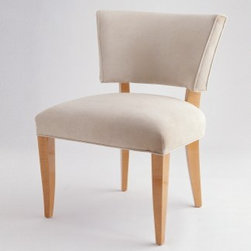 Jan Showers Audrey Slipper Chair - This chair is clean and contemporary, yet has flair and is very comfortable. Use it as an occasional piece in any room in the house.