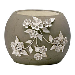 Large Lily Planter, Gray
