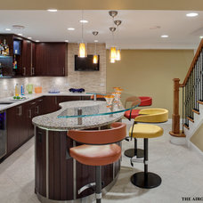 Contemporary Basement by Airoom Architects-Builders-Remodelers