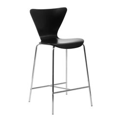 Eurostyle - Eurostyle Tendy-C Counter Chair in Black & Chrome [Set of 2] - Counter Chair in Black & Chrome belongs to Tendy Collection by Eurostyle Certain designs cross the threshold from interesting and glamorous all the way over to nothing less than a design icon. You're looking at it. And you could be sitting in it! Counter Chair (2)