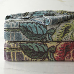 """Fresco Towels - Fresco Towels Indigo Rose Hand Towel - Made of Turkish cotton that is pre-shrunk, pre-washed, highly absorbent, and exceptionally soft, """"Indigo Rose"""" towels add artistic flair to the bath. Because of the method used for dyeing these towels, you may notice slight variations in shades. Select..."""