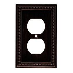 Liberty Hardware - Liberty Hardware 64410 Beaded WP Collection 3.19 Inch Switch Plate - The Beaded design adds elegance and sophistication to every room. The Venetian Bronze finish brings distinguished style and grace to any room. Quality zinc die cast base material. Available in the 10 most popular wall plate configurations. Width - 3.19 Inch, Height - 5 Inch, Projection - 0.3 Inch, Finish - Venetian Bronze, Weight - 0.33 Lbs.
