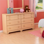 South Shore - South Shore Newton Double Dresser in Natural Maple - South Shore - Dressers - 2713027 - This convenient and practical double dresser is an ideal choice when decorating a child's or teen's room. It features six large drawers with plenty of room for clothes and other treasures. Reminiscent of Shaker style the Newton Double Dresser will be the perfect addition to a bedroom with a country or contemporary decor.