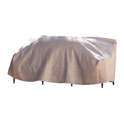"Duck Covers 87""W Patio Sofa Cover with Inflatable Airbag - Scroll Below to see our VERY HELPFUL Video on this Patio Sofa CoverPatio Sofa Cover Actual Size - 87"" W x 37"" D x 35"" H"
