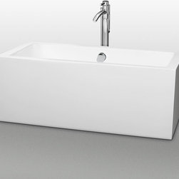 "Wyndham Collection - Wyndham Collection WCOBT101160 White Melody Melody Free Standing - The Melody Collection from Wyndham: The Melody Soaking Tub - contemporary, clean, and fresh. Make a statement in your modern bathroom with this soothing balanced bathtub, featuring a flat edge running the entire perimeter of the tub for votives and bath accessories. Built to last and always warm to the touch, the Verona Bathtubs are a perfect place to melt away tension and stress, leaving you refreshed, recharged and renewed. Tub Features:  Significantly deeper than standard tubs - allowing for full body immersion Constructed of an acrylic material - giving it strength and ease of handling during installation Acrylic is warmer to the touch than conventional enameled steel tubs Base is adjustable - for accurate leveling and increased stability Contemporary rectangular design will serve as a focal point in any bathroom Free standing configuration makes placement of tub very versatile Drain (tub waste) is included and installed Overall Height: 22-1/2"" Overall Width: 29-1/2"" Overall Length: 59-1/2"" All Wyndham Collection products ship from Southern California  About Wyndham Collection: Wyndham Collection is a line of bathroom furnishings for those who expect innovation and sophistication. By owning their own factory, Wyndham Collection has complete control over the manufacturing process, and the ability to commit to the quality and longevity of their products. To the consumer, this means that you are guaranteed a tub that was created through thoughtful design and is backed by a full 2-year warranty. This warranty period may not sound like much, but consider this: nearly every other tub manufacturer on the market only commits their product to a 1 year warranty. Why offer a warranty that doubles the average? Because Wyndham is certain they have developed a product far"