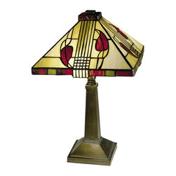 Dale Tiffany - Dale Tiffany 2724/797 Henderson 2-Light Table Lamps in Antique Bronze Paint - Henderson Table Lamp