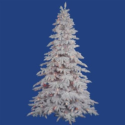 "Vickerman A893682M 9' x 67"" Prelit Mini Lights Flocked Spruce Christmas Tree - Get 10% discount on your first order. Coupon code: ""houzz"". Order today."