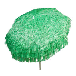 """DestinationGear - Palapa Tiki Umbrella 6 ft, Lime, Patio - Turn up the Island sounds and get out of the sun with this high quality, well-appointed product from DestinationGear. A strong a sturdy aluminum frame provides the mechanical advantage of the umbrella.  A 7'6"""" foot diameter span with 3-position tilt provides lots of shade to help keep the drinks cool on a sunny day in your yard, around the pool or at the beach. The staggered polypropylene material is UV resistant and holds its color for years."""