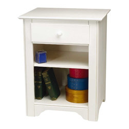 """Renovators Supply - End Tables White Hardwood Shaker Night End Table - Night Tables: Our solid hardwood Shaker bedside table measures 28"""" high x 22"""" wide x 18"""" deep. White finish stain."""