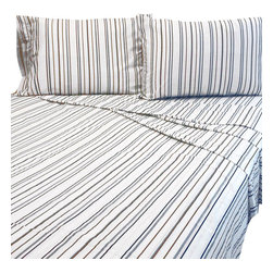 Jay Franco and Sons - Bentley Full Bed Sheet Set Striped Bedding Accessories - Features: