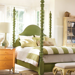 Catalina Poster Bed - This poster bed comes in a super fun kelly green.