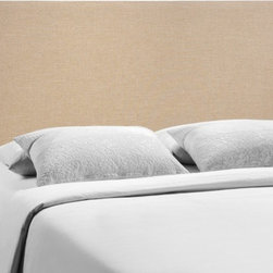 Modway Imports - Modway MOD-5211-CAF Region Queen Upholstered Headboard In Cafe - Modway MOD-5211-CAF Region Queen Upholstered Headboard In Cafe
