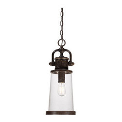 Quoizel - Quoizel SDN1908 Steadman Outdoor Down Light Pendant with 1 Light - Accent your outdoors with this spectacular 1 light down light outdoor pendant featuring flawless clear seedy glass.Features: