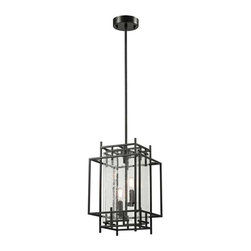 Elk Lighting - Elk Lighting 14202/2 Intersections Transitional Foyer Chandelier - Elk Lighting 14202/2 Intersections Transitional Foyer Chandelier in Oil Rubbed Bronze