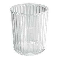 Alston Can, Clear - It is easy to imagine why trash cans often get overlooked — they are used for trash, after all. Take small steps towards incorporating Lucite into your space by tucking this catchall in your bathroom or home office.