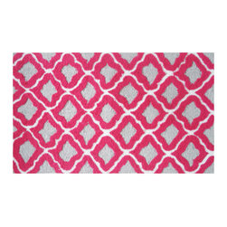 The Rug Market - Marrakesh Raspberry Area Rug - Turn your space into a Moroccan den with this brilliant, trellis-patterned rug. The bright colors give it a contemporary edge while the traditional pattern evokes images of a Marrakesh souk. You won't have to barter for this lovely rug.