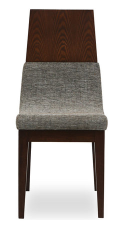 Bryght - 2 x Lavender Fabric Upholstered Dining Chair - The Lavender dining chair with its unmatched innovative design is sure to lend a mid century modern air to your dining room decor. This well crafted piece offers you the combined luxury of a cushioned as well as a thick and sturdy wooden back, gently curved to envelope you every time you sit. The Lavender dining chair is ideal for everyday use and longer sittings alike.