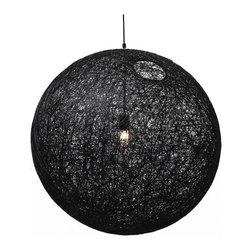 Modernist Stringy Pendant Lamp Black Medium - Modernist Stringy Pendant Lamp in Black Medium