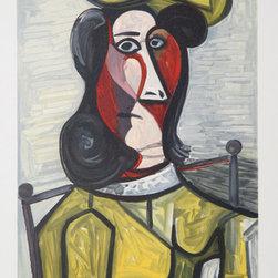 Pablo Picasso, Portrait de Femme Au Chapeau, 5-A, Lithograph - Artist:  Pablo Picasso, After, Spanish (1881 - 1973)