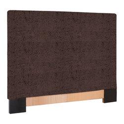 Howard Elliott - Howard Elliott Rhythm Chocolate FQ Headboard Slipcover - Fq headboard slipcover rhythm chocolate