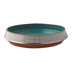 Piling Palang - Handmade Flat Dish by Piling Palang - Put all the pieces together with this gorgeous flat dish. It's handmade using the ancient technique of cloisonné in which enamel is applied in separate raised cells. Fill it with bright, citrus fruit in the kitchen, or display it on your coffee table or console to add a bit of Asian influence to your interiors.