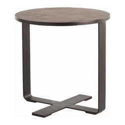 Arteriors - Ramiro End Table - Minimalist much? Here's a table that stands for your stark, spare style. It's made of hammered iron with a black wax finish — nothing more.