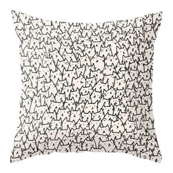 Inova Team - Contemporary Pillow Cover, 20x20 with Pillow Insert, Indoor - Throw Pillow made from 100% spun polyester poplin fabric, a stylish statement that will liven up any room. Individually cut and sewn by hand, features a double-sided print and is finished with a concealed zipper for ease of care.