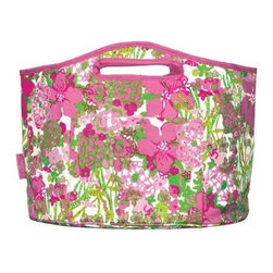 Lilly Pulitzer - Lilly Pulitzer Insulated Beverage Bucket, Beach Rose - Keep all of your picnic or tailgating necessities cool and refreshing with our Lilly Pulitzer stylish Insulated Beverage Bucket. This bucket even folds flat for convenient storage. Whether beach, back porch, or truckbed you will be the hostess with the mostess as the bottle opener is included, just add ice and drink.