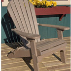 Buyers Choice - Phat Tommy Folding Recycled Poly Adirondack Chair - Today, more than ever, people are finding their place of relaxation in their own backyard. The PHAT TOMMY Deluxe Poly Adirondack Patio Chair is designed for maximum comfort and heirloom quality. The contoured design takes rest and relaxation to the next level. Our PHAT TOMMY Deluxe Adirondack Patio Chair is maintenance-free and made with environmentally responsible recycled poly material and stainless steel fasteners. Created for commercial or residential use, our chairs stay beautiful year after year with no rotting, splitting or cracking. Features: -Chair is made from thick recycled poly-wood material.-3 Back braces for strong support.-Folds completely for easy storage.-Chair back and seat are completely contoured for maximum comfort.-Chair has 6 slats.-Maximum load capacity is 400lbs.-Distressed: No.-Arms: Yes.-Country of Manufacture: United States.Dimensions: -Arm rest at widest 5.5''.-Seat Depth: 20''.-Folded Measurements: 11 H x 30 W x 45 D.-Seat: Approximately 22'' W.-Overall Measurements: 37'' H x 30'' W x 35'' D.-Overall Product Weight: 43 lbs.