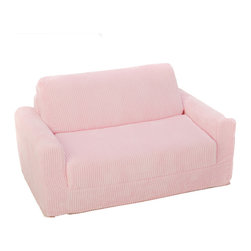 Fun Furnishings - Fun Furnishings Chenille Sofa Sleeper in Pink - Blue jewel-chair sleeper by fun furnishings. The sofa and chair sleepers are the perfect place to sit to read, watch TV or play a game. When it is time to take a nap or find a place for a little friend to spend the night, flip open the chair or sofa , add a blanket and pillow and you are all set. Grandparents love having one at their home too. Built-in durability. We've worked hard to make our furniture durable and help it retain its appearance. We use high-density foam to make the furniture hold up to the tough use it receives from kids. We include a layer of fiber on the seating surfaces to keep the fabric tight much longer.