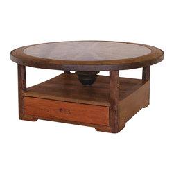 Groovystuff - Groovystuff Desperado Glass Coffee Table in Honey - Features: