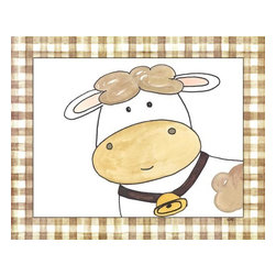 Oh How Cute Kids by Serena Bowman - Here's Looking at You - Cow, Ready To Hang Canvas Kid's Wall Decor, 8 X 10 - Every kid is unique and special in their own way so why shouldn't their wall decor be so as well! With our extensive selection of canvas wall art for kids, from princesses to spaceships and cowboys to travel girls, we'll help you find that perfect piece for your special one.  Or fill the entire room with our imaginative art, every canvas is part of a coordinating series, an easy way to provide a complete and unified look for any room.