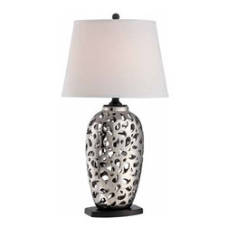 Lite Source - Lite Source Wendell Contemporary / Modern Table Lamp XSL-THW/LIS89422 - Table Lamp with LED Reading Light